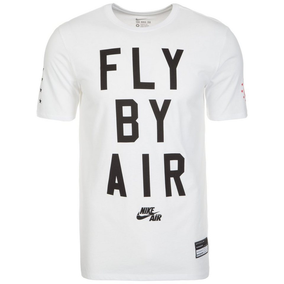 Nike Sportswear Air Fly By T-Shirt Herren in weiß / schwarz / rot