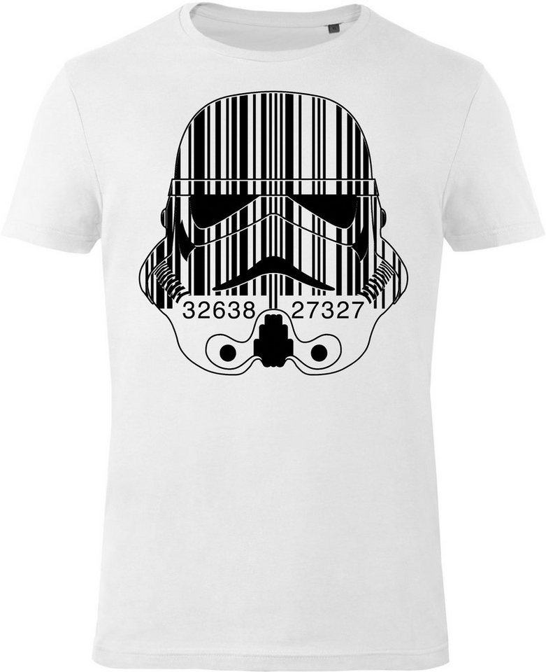 Gozoo T-Shirt »Star Wars - Imperial Stormtrooper - Barcode« in White