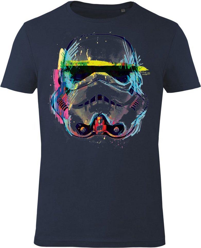Gozoo T-Shirt »Star Wars - Imperial Stormtrooper - NEON Sketch Ar« in Blue