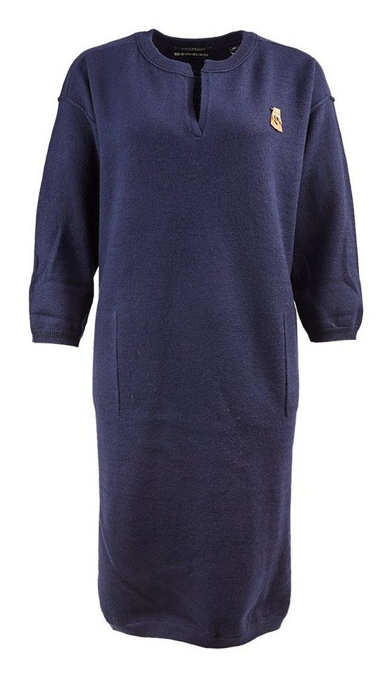Maison Scotch Kleid »Knitted v-neck cocoon fit dress« in schwarz