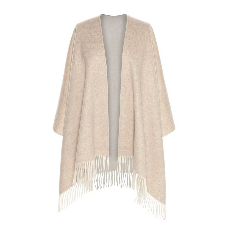 CODELLO Cape aus reiner Wolle in beige