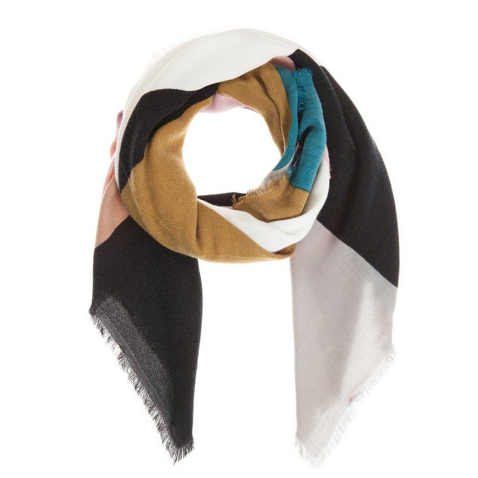 CODELLO Tuch im Color-Blocking-Look in türkis