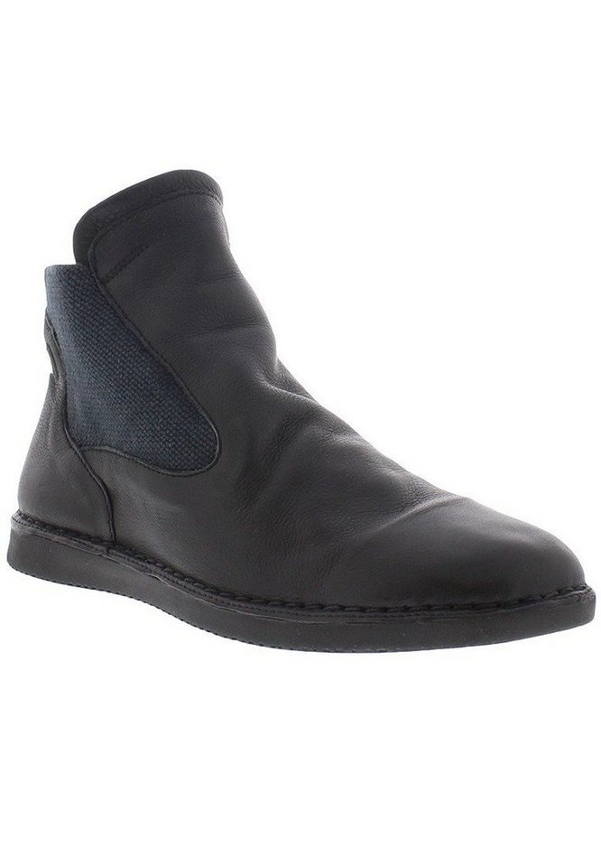softinos Schlupfstiefelette »TYA319SOF smooth leather« in schwarz