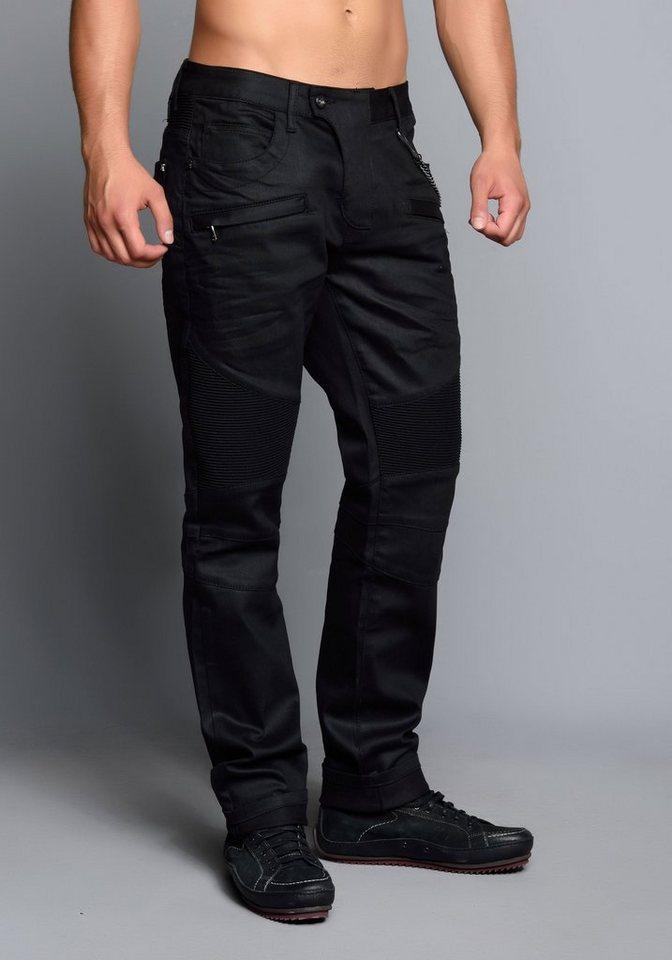 Cipo & Baxx Jeans Hose in schwarz