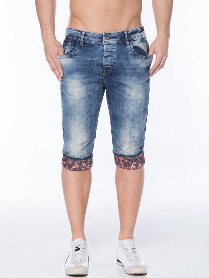 Cipo & Baxx Jeans Caprihose in JEANSBLAU