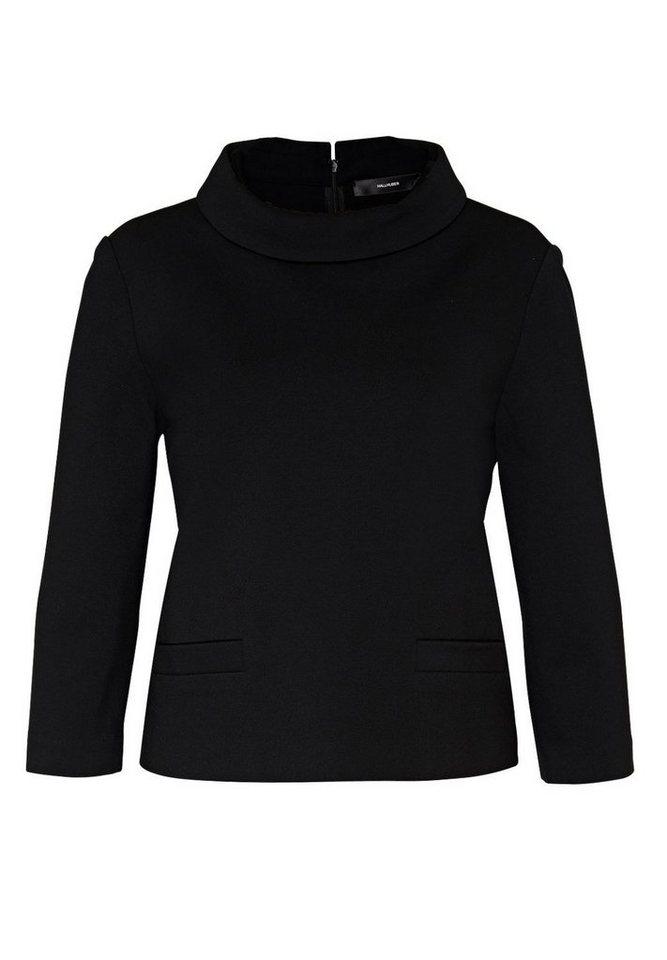 HALLHUBER Jersey Top mit Dreiviertelärmeln in schwarz