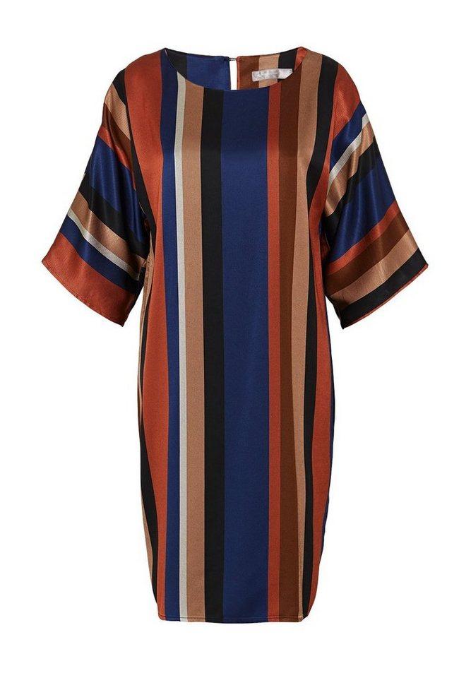 HALLHUBER Kimono-Kleid mit Längsstreifen in multicolor