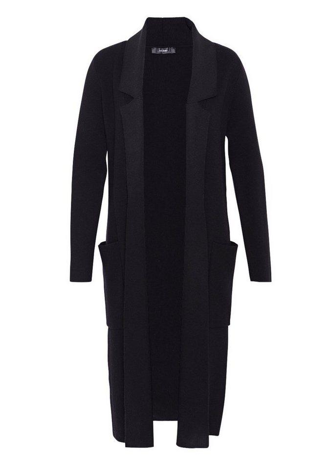 HALLHUBER Maxi-Cardigan mit Reverskragen in schwarz