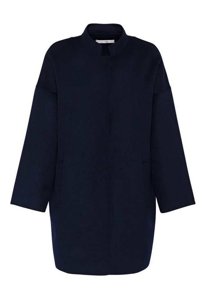 HALLHUBER Doubleface-Mantel in O-Shape in tintenblau