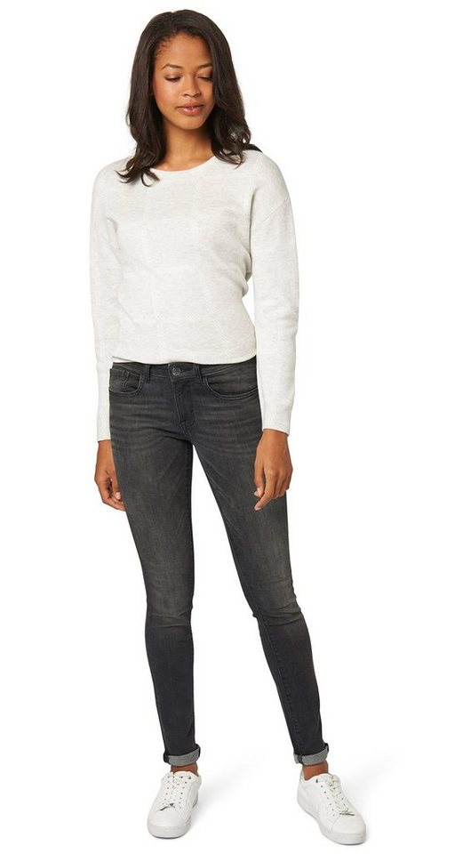 TOM TAILOR Jeans »Jeans mit Waschung« in grey denim