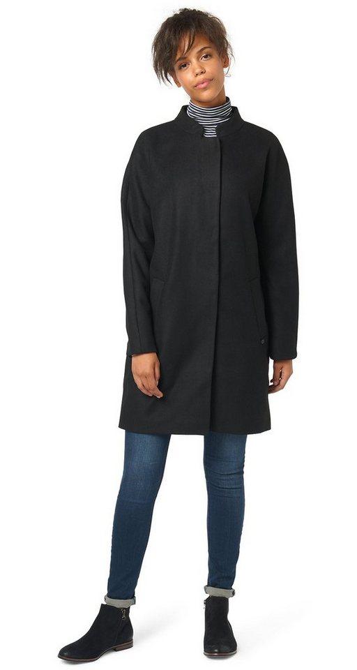 TOM TAILOR DENIM Jacke »Mantel im Kimono-Look« in black