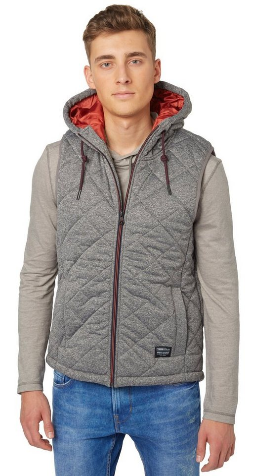 TOM TAILOR DENIM Weste »melange vest« in somber grey