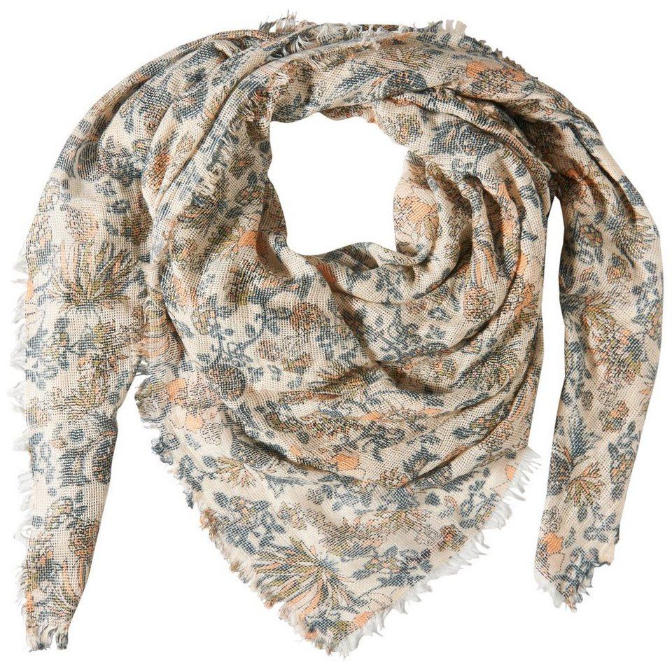 TOM TAILOR DENIM Schal »structured flower scarf« in off white