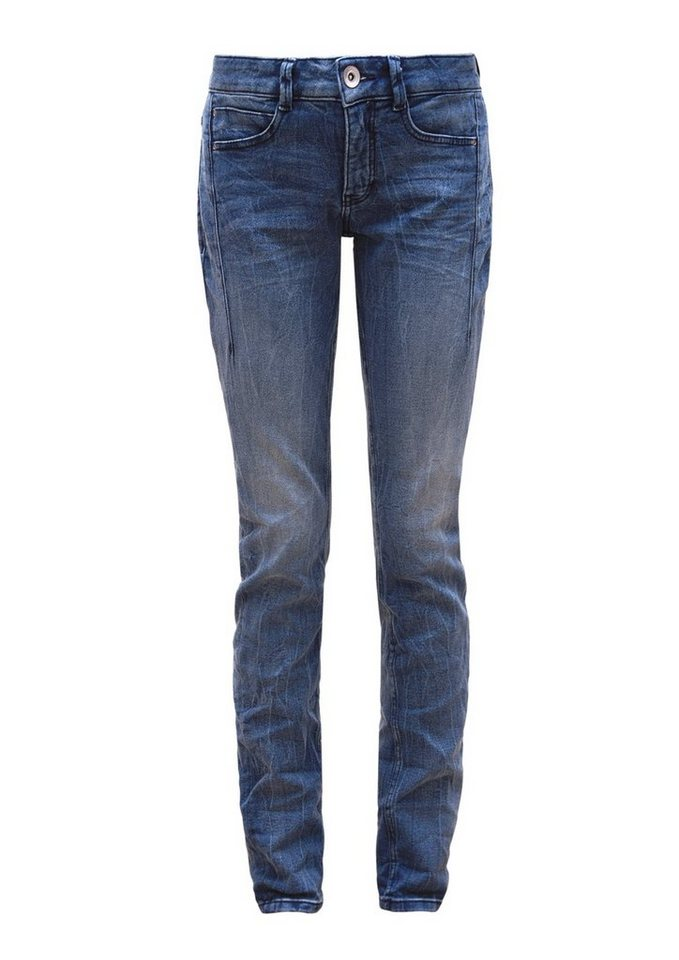 s.Oliver RED LABEL Smart Slim: Stretch-Jeans in blue denim stretch