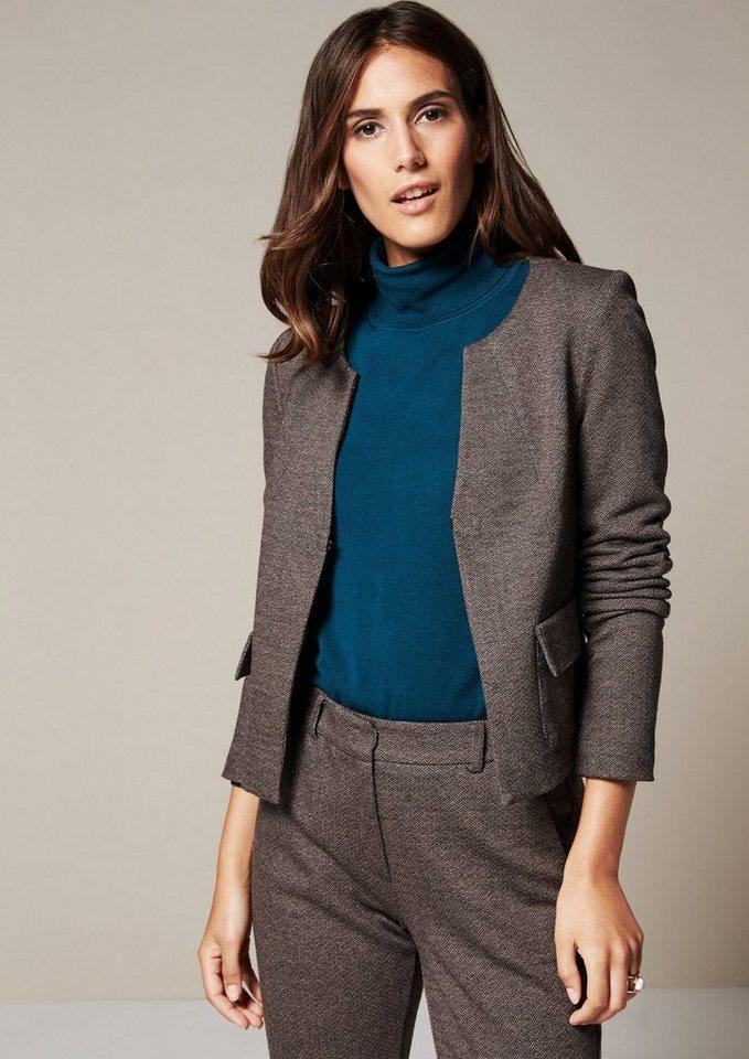 COMMA Edler Blazer in Tweed-Optik in black knit