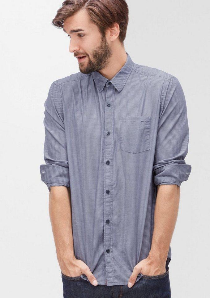 s.Oliver RED LABEL Regular: Hemd aus Baumwolle in tattoo blue