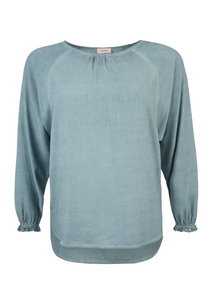 TRIANGLE Colored Blusenshirt aus Crêpe in frosty blue