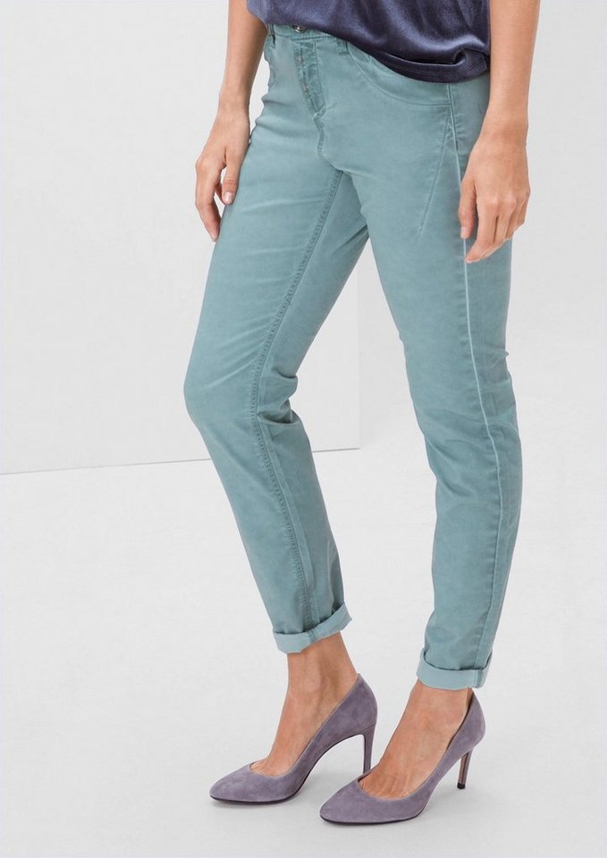 TRIANGLE Fancy Fit: Leichte Stretch-Hose in frosty blue