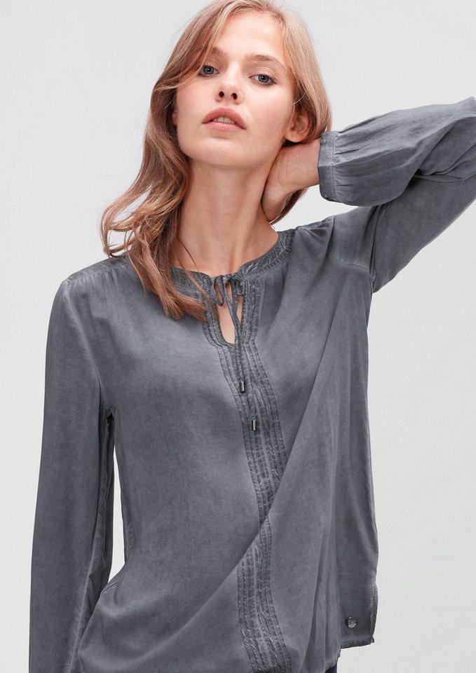s.Oliver RED LABEL Tunika-Bluse in Garment-Dye in dark grey