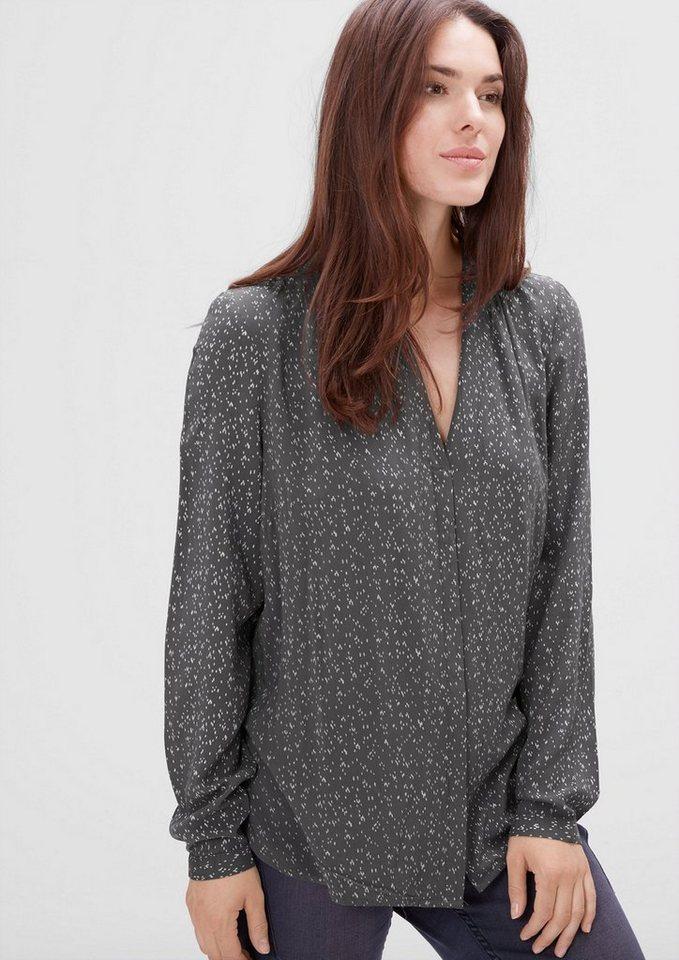TRIANGLE Gemusterte Bluse aus Modal in dark grey