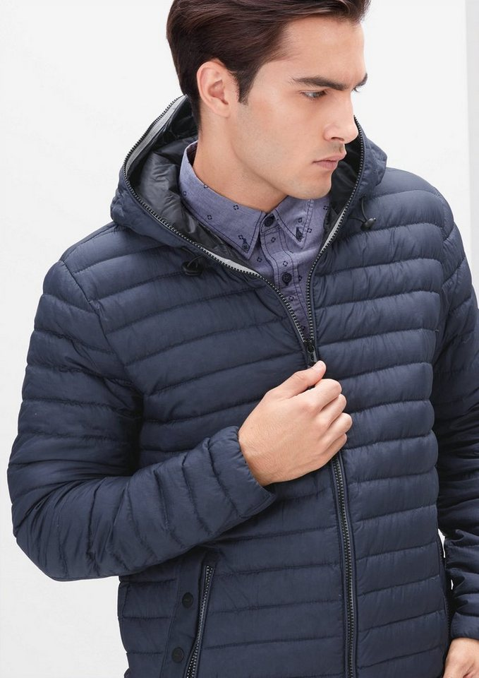 s.Oliver RED LABEL Extra leichte Daunenjacke in turqoise