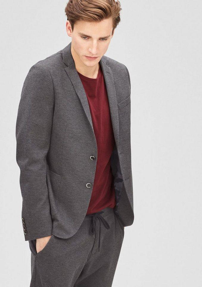 s.Oliver BLACK LABEL Slim: Jogg Suit-Sakko in phantom melange