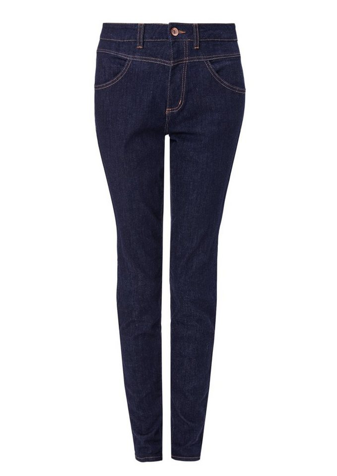 s.Oliver RED LABEL High Rise Skinny: Jeans mit hohem Bund in blue denim stretch