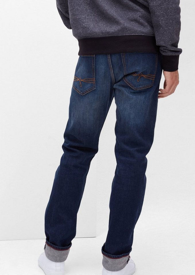 s.Oliver RED LABEL Close Slim: Dunkle Stretch-Jeans in blue denim stretch