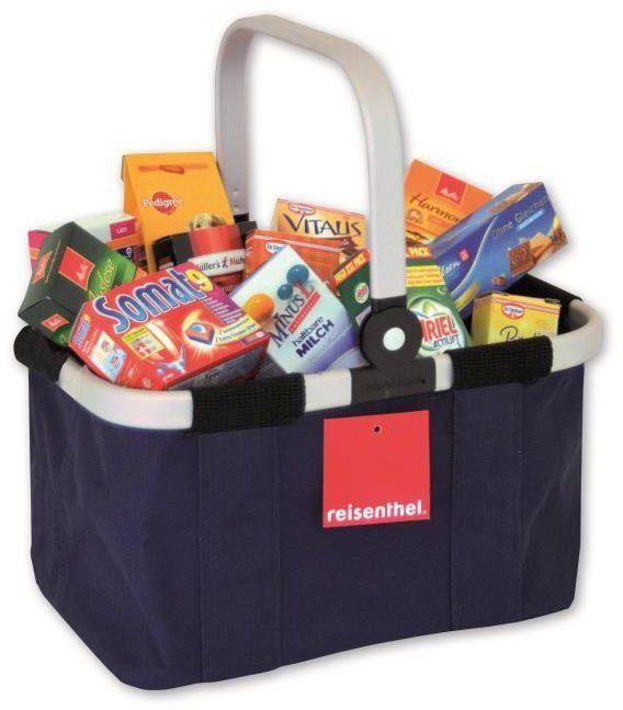 Tanner Einkaufskorb mit Kaufladensortiment, »Reisenthel Carry Bag, blau«