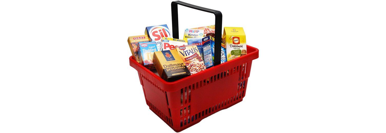 Tanner Einkaufskorb mit Kaufladensortiment, »Supermarkt Korb, rot«