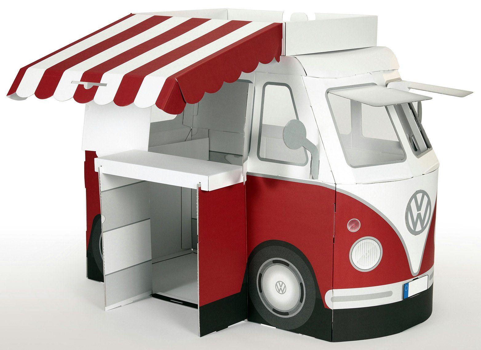 Tanner Marktstand in Form eines T1 Bus, »VW Spielbus Kampini«