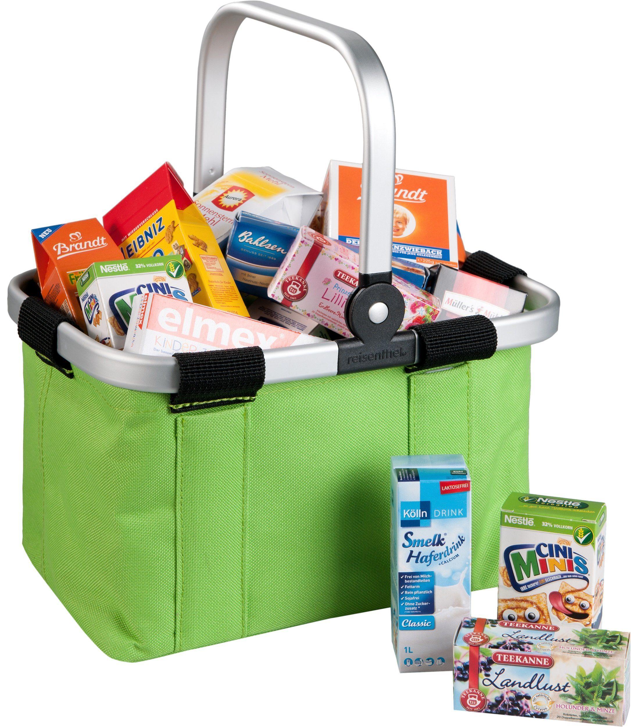 Tanner Einkaufskorb mit Kaufladensortiment, »Reisenthel Carry Bag, grün«