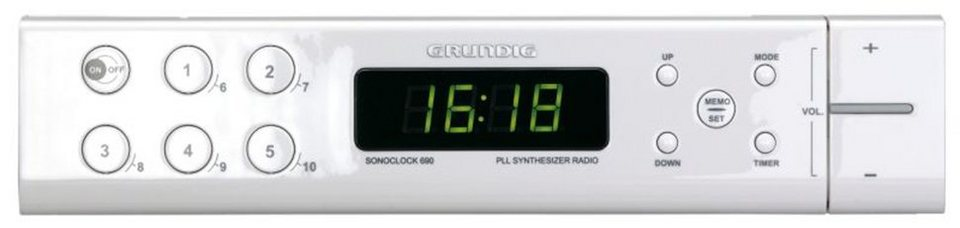grundig uhrenradio mit unterbau zubeh r f r k chenschr nke sonoclock 690 online kaufen otto. Black Bedroom Furniture Sets. Home Design Ideas