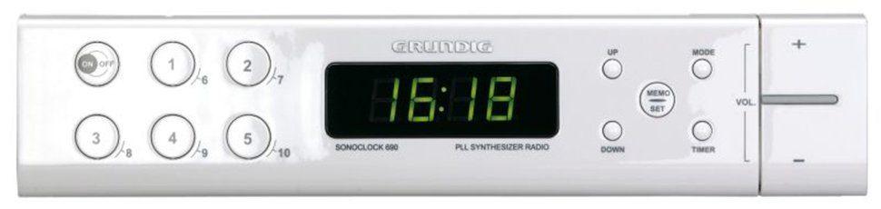 Grundig Uhrenradio mit Unterbau-Zubehör für Küchenschränke »Sonoclock 690«