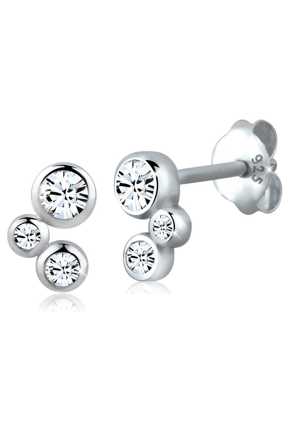 Elli Ohrringe »Basic Geo Swarovski® Kristalle Filigran 925 Silber«