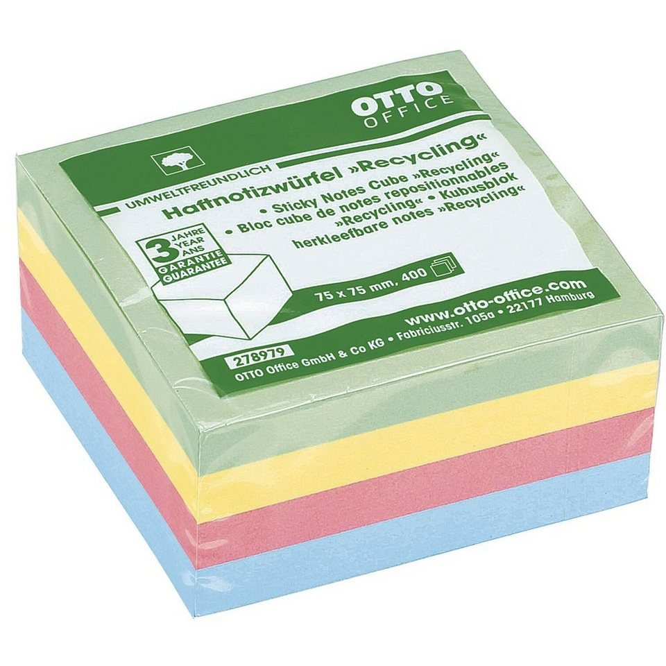 OTTOOFFICE_NATURE Haftnotizwürfel »Recycling«