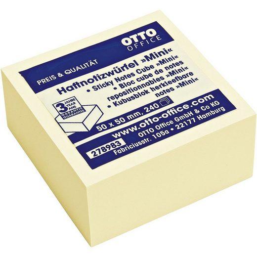 OTTOOFFICE STANDARD Haftnotizwürfel 50x50 mm gelb »Mini«