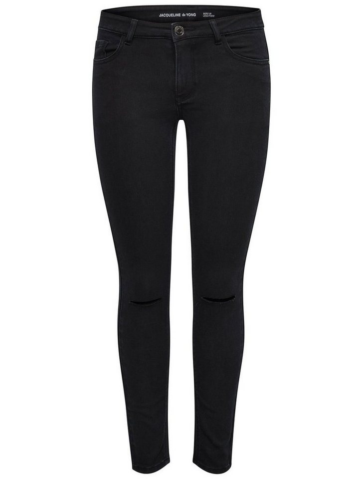 Only Holly kneecut ankle Skinny Fit Jeans in Black