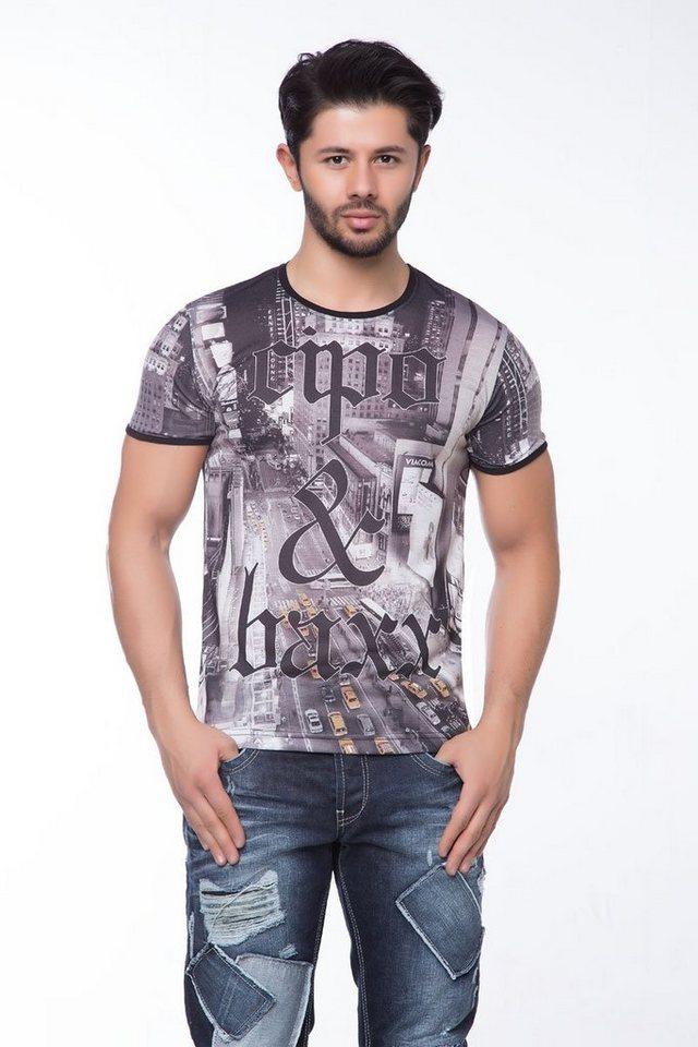 Cipo & Baxx Stylisches T-Shirt - CT124 in STANDARD