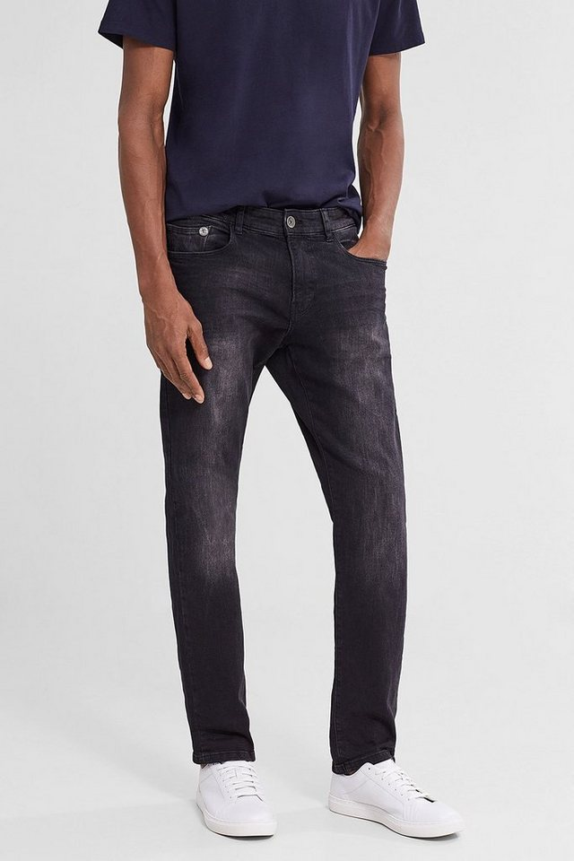 ESPRIT CASUAL 5-Pocket Stretch-Jeans aus Black Denim in BLACK DARK WASHED