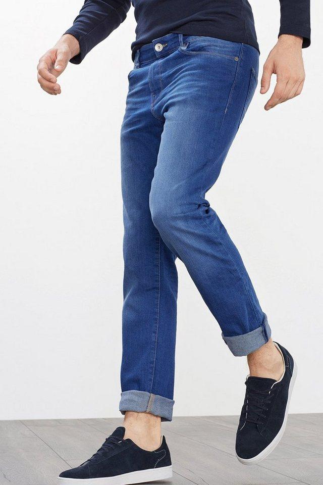 ESPRIT CASUAL Basic Stretch-Jeans in kräftigem Blau in BLUE MEDIUM WASHED