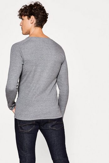 Esprit Basic Ripp Longsleeve Made Of Cotton