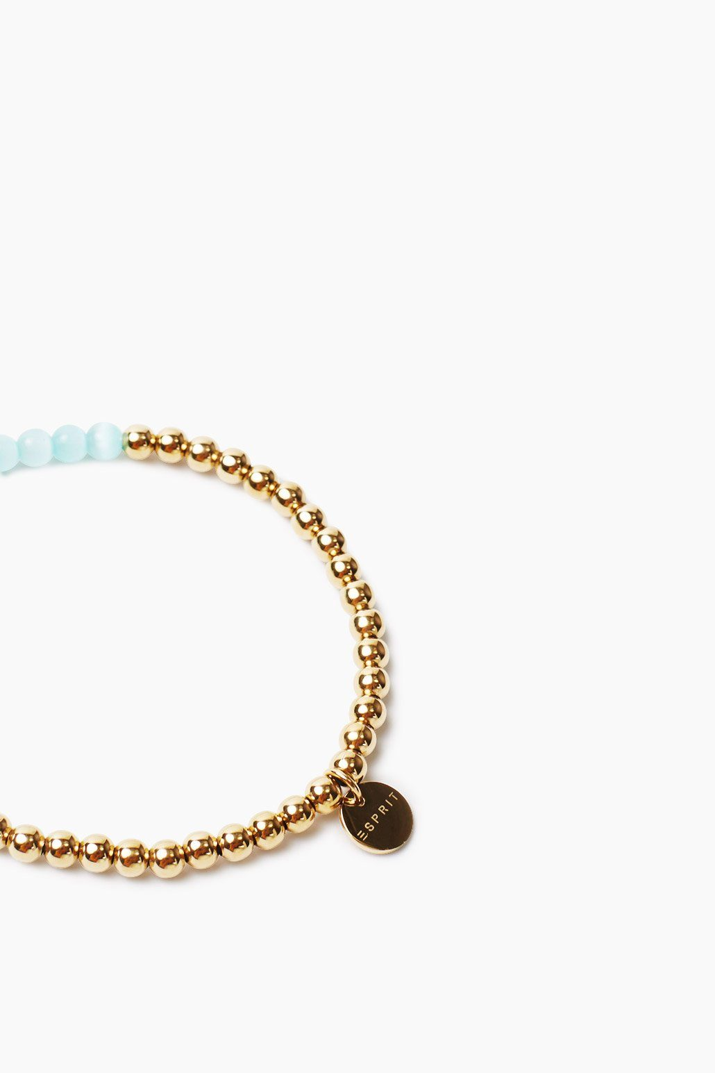 ESPRIT CASUAL Armband aus vergoldeten Edelstahlperlen