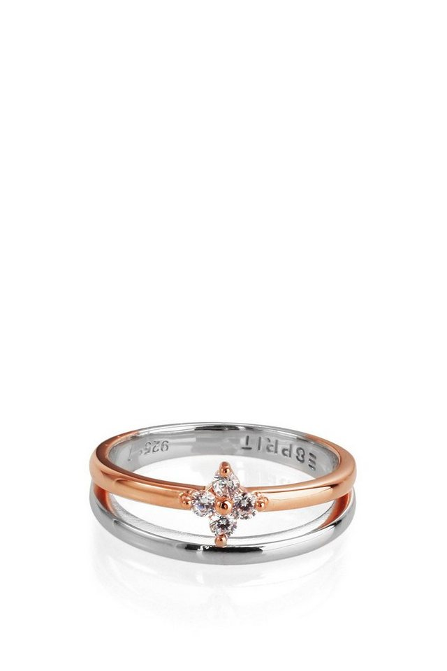 ESPRIT CASUAL Sterling Silber / Rotgold / Zirkonia Ring in one colour