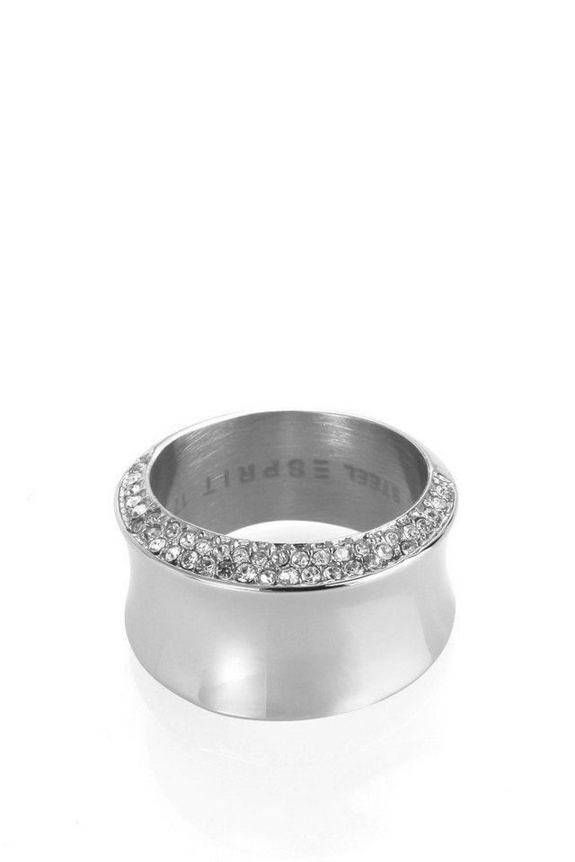 ESPRIT CASUAL Edelstahl / Zirkonia Ring in one colour