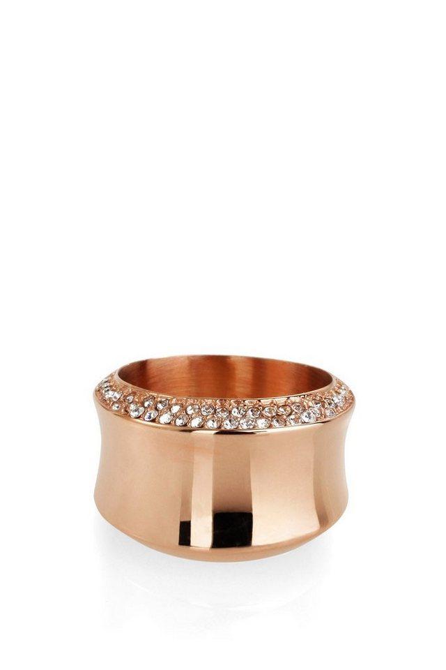 ESPRIT CASUAL Breiter Ring mit Glitzersteinchen in one colour