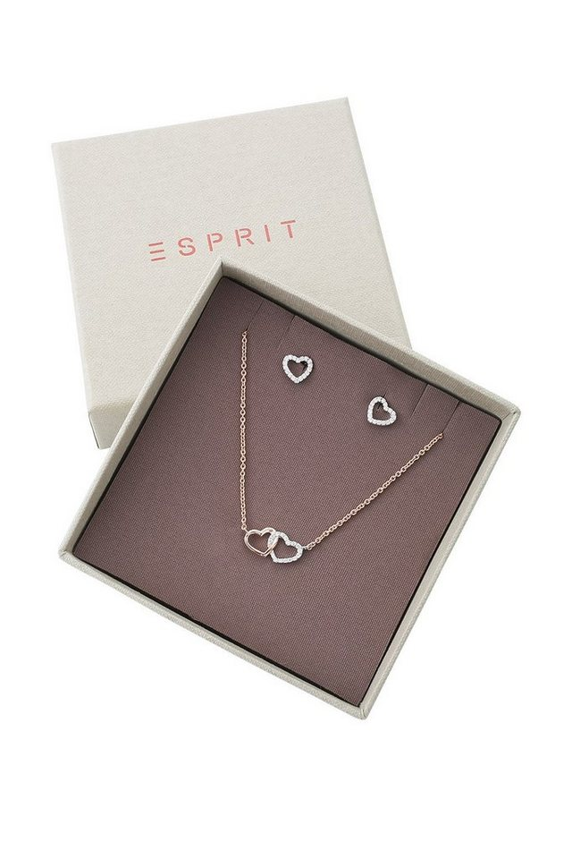 ESPRIT CASUAL Sterling Silber / Rotgoldplattierung /Zirkonia in one colour