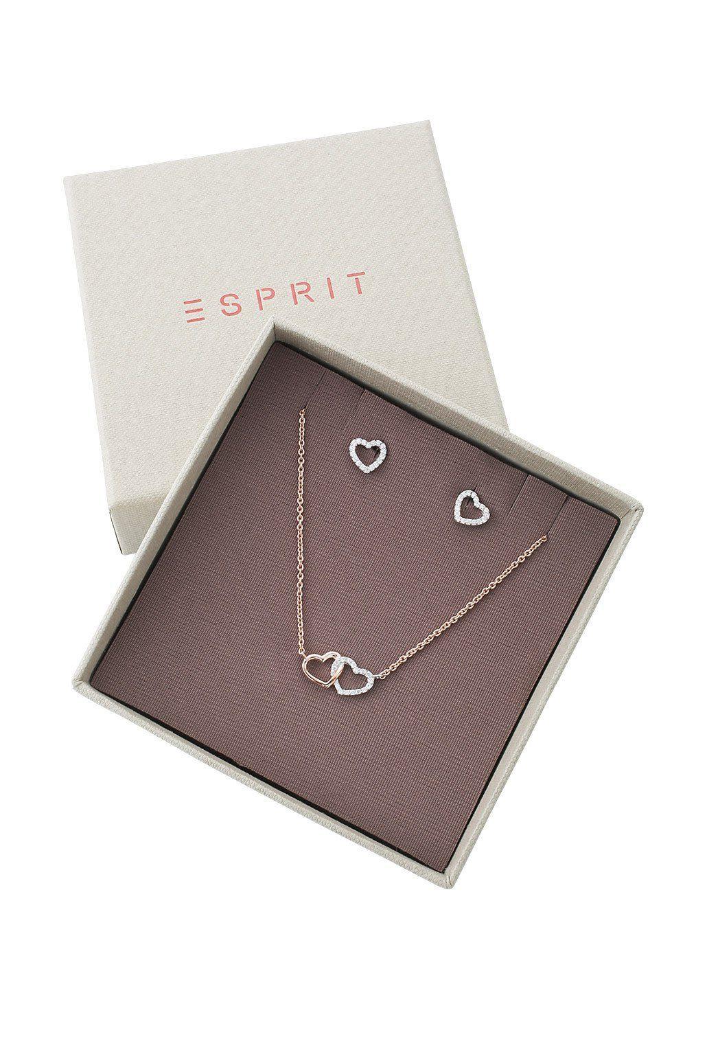 ESPRIT CASUAL Sterling Silber / Rotgoldplattierung /Zirkonia