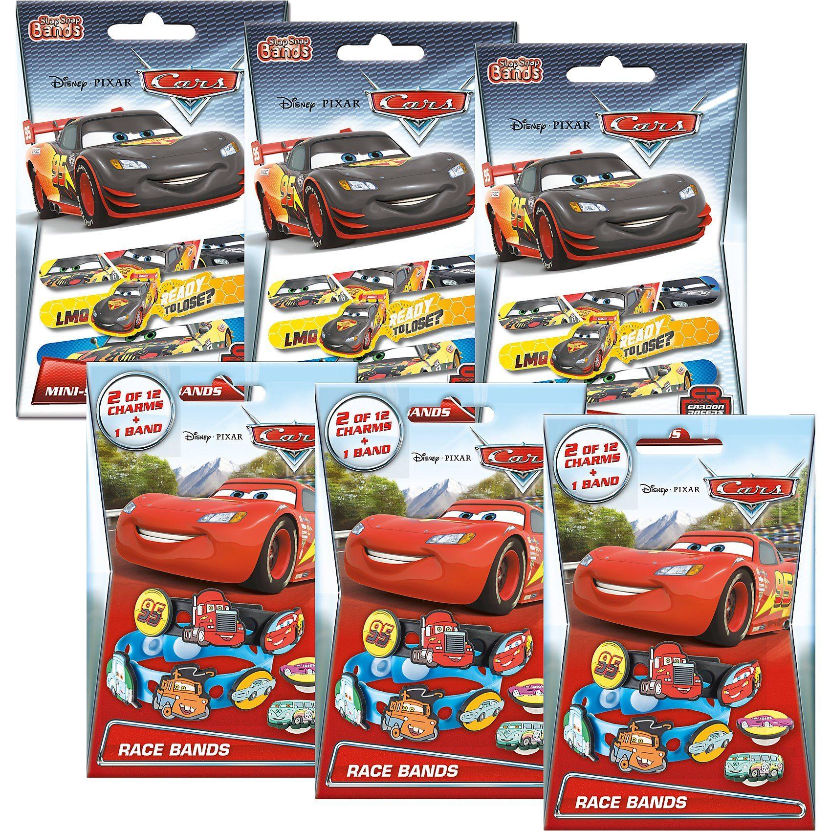 CRAZE 6in1 Set Mini Slap-Snap-Bands + Race-Bands - Cars