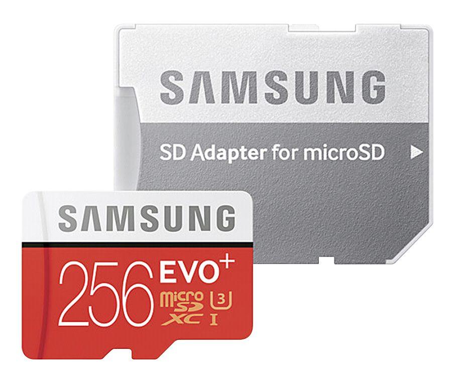 Samsung Speicherkarten »microSDXC Class 10 256GB Evo+ mit Adapter«